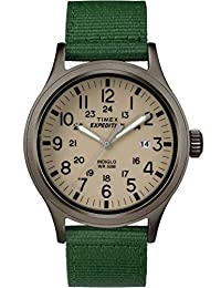 Timex #TW4B06800 Men's Expedition Scout Military Indiglo Green Fabric Band Watch