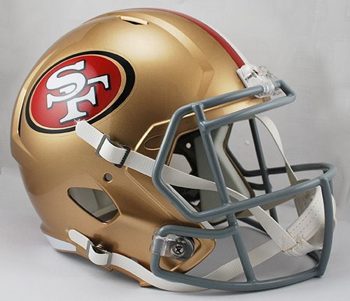 San Francisco 49ers Riddell Full Size Speed Deluxe Replica Football Helmet - New in Riddell Box
