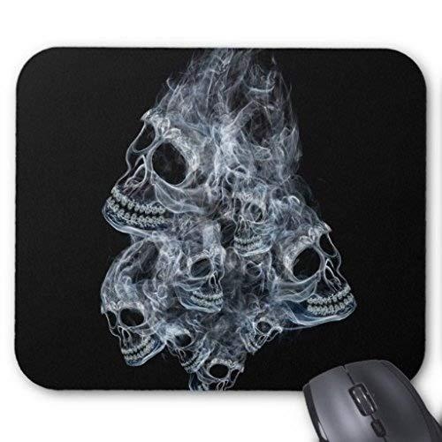 Mousepads,Halloween Skull Terror Custom Rectangle Gaming Mousepad Pattern Design Mouse Pad]()