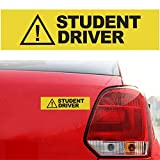 MONNY 30 x 7.5cm Yellow Caution Student Driver Car Vehicle Magnetic Reflective Sign Safety Decal