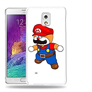 Case88 Designs Super Mario Doraemon Protective Snap-on Hard Back Case Cover for Samsung Galaxy Note 4