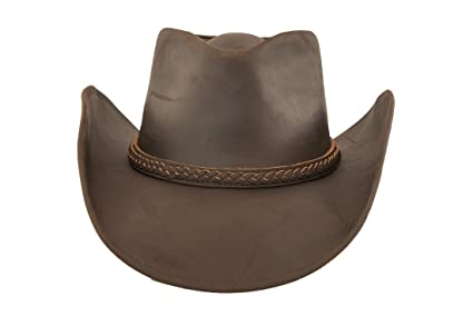 Lucky Trails Lucas Braided Band Brown Leather Cowboy Western Hat at Amazon  Men s Clothing store  238f71b19d79