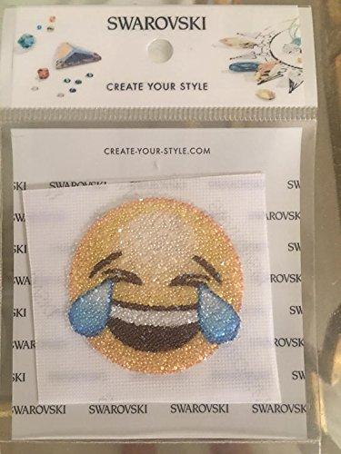 (Swarovski Crying/Laughing Emoji Crystal Fabric Special Motif/Transfer)