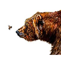 Got Honey? // Bear and Bee Print // Nursery Art //