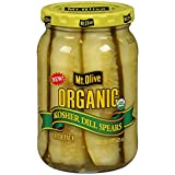 Mt. Olive Organic Kosher Dill Spears 16 oz (Pack of 2)