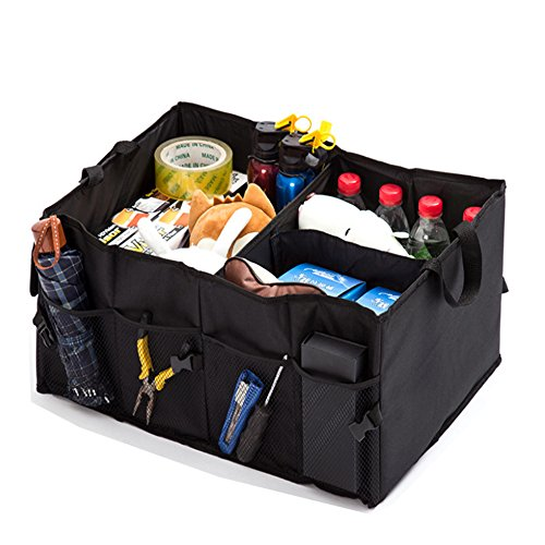 IMPORX Foldable Cargo Trunk Storage Organizer Container - with Rope Handles, Collapsable Folding, Toy Organizers, for Vans, SUV, Cars, Trucks by IMPORX
