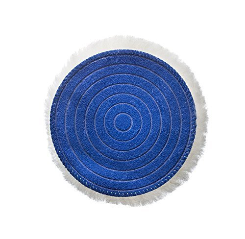 Glass Polish GP16011 PRO-Line Professional Detailing Ultra-Soft Wool Pad with Hook and Loop/Diameter 5 inch - Diameter Loop