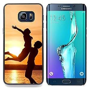 - Sunset Happiness - - Cubierta del caso de impacto con el patr??n Art Designs FOR Samsung Galaxy S6 Edge Plus Queen Pattern