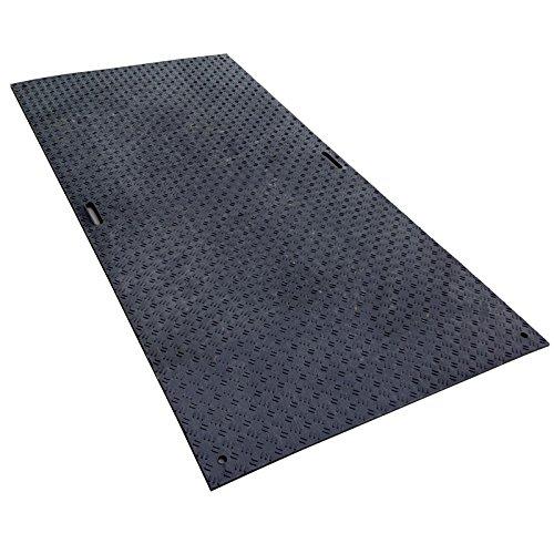 工事用 樹脂製 敷板 Wボード 両面凸 3x6 黒 工事 現場 建築 工場 国内生産 ウッドプラスチックT 代不 B07253CLGM 21000