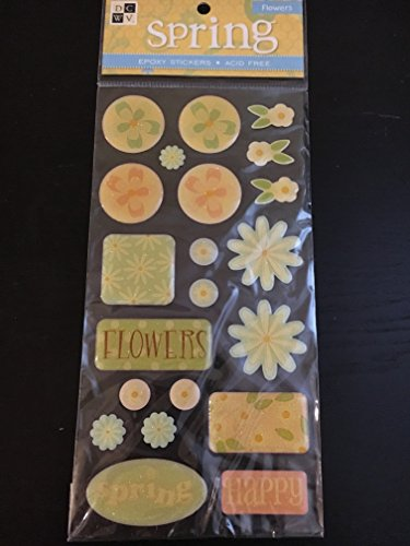 DCWV Spring Flowers Epoxy Stickers
