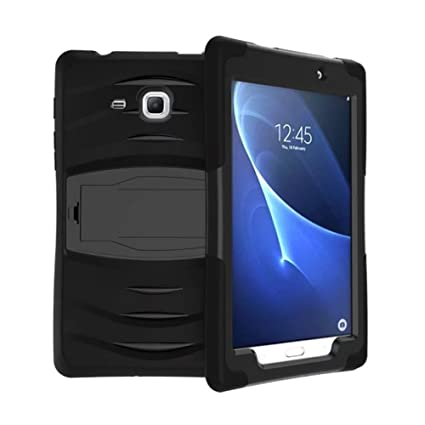 best service c17b7 3ab7f Galaxy Tab A 7.0 Case, Lanstyle Hybrid Rugged Armor Back Cover Case with  Kickstand for Samsung Galaxy Tab A 7.0 (SM-T280 / SM-T285) (Black)