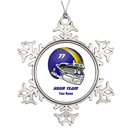 Ideas For Decorating Christmas Trees Royal Blue and Yellow Football Helmet Unusual Garden Snowflake Ornaments Helmet