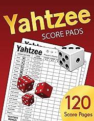 Yahtzee Score Pads: Large size 8.5 x 11 inches 120 Pages | Dice Board Game | YAHTZEE SCORE SHEETS | Yatzee Score Cards | Yah