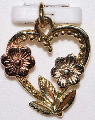 14k Yellow Gold with 2 tone flowers