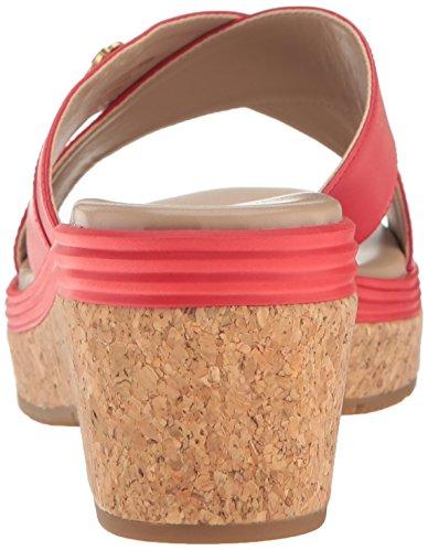 Cole Haan Donna Briella Grand Ii Sandalo Con Zeppa Bacca Di Goji / Zucchero Dacero
