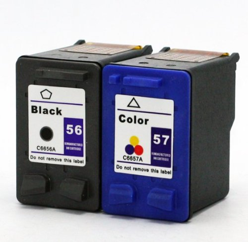 2 Pack Axiom Remanufactured Compatible Ink Cartridge For HP 56 57 Ink Cartridge C6656AN C6657AN Combo Pack