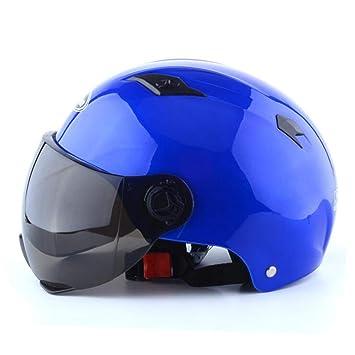 HHQ Casco de moto casco eléctrico casco de montar casco de verano casco de verano unisex