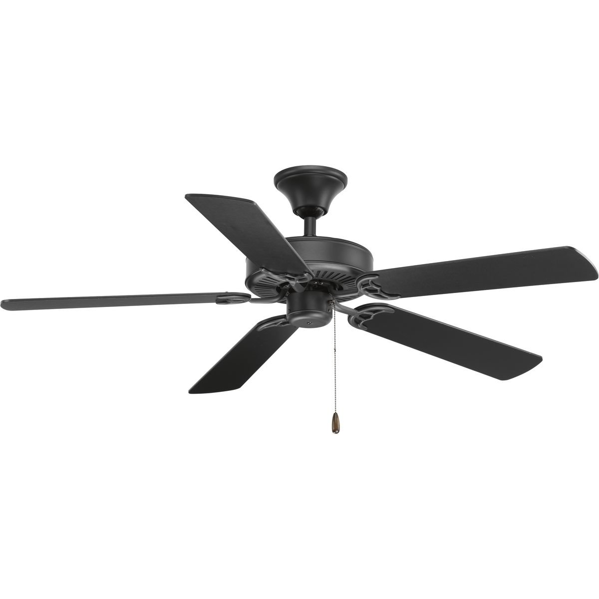 Progress Lighting P2501-143 Protruding Mount, 5 Driftwood Matte Black Blades Ceiling fan, Graphite