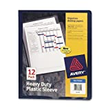 Avery Heavy Duty Plastic Sleeves, Blue, Pack of 12 (72610)