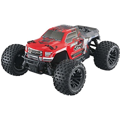 Rtr Electric Stadium Truck - ARRMA Granite 4X4 Mega Electric RC Rtr Remote Control 4WD Monster Truck, Red/Black