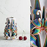 Decorative Candles - Hand Carved Rainbow Wedding Centerpiece - Boho Premium - EveCandles