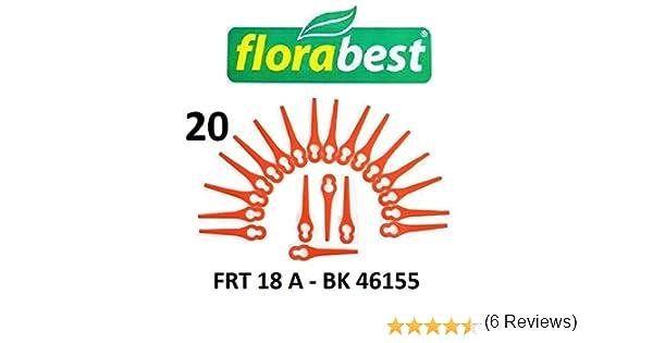 20 Flora Best Cuchilla de repuesto para batería Cortacésped frt18 a – Lidl BK 46155/cuchillo/plotter Fichas/PA6: Amazon.es: Jardín