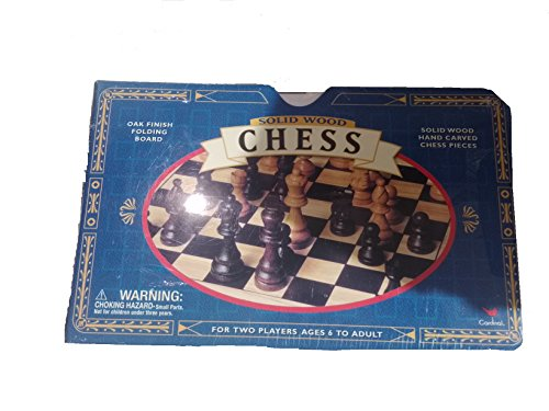 Oak Finish Game - Solid Wood Chess: Oak Finish Folding Board - Solid Wood Hand Carved Chess Pieces