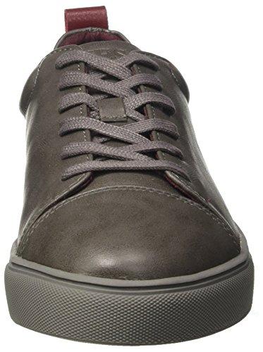 Gris Rouge Sneakers Carlos Grigio Basses Homme Guess 6qUvwxX