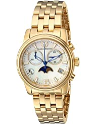 Technomarine Womens Eva Longoria Quartz Stainless Steel Casual Watch, Color:Gold-Toned (Model: TM-416016)