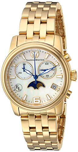 Technomarine Women's Eva Longoria Quartz Watch with Stainless-Steel Strap, Gold, 18 (Model: TM-416016)