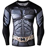 Red Plume Men's Hero Printed Party Long Sleeve Outdoor Sport Fitness Shirt