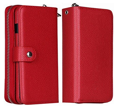 45489d74fd03 iPhone 8 Wallet Case, iPhone 7 Case Hynice Magnetic Detachable ...
