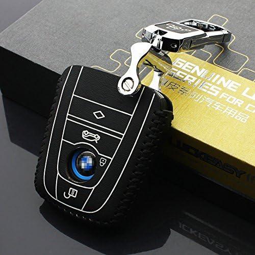 Cuir v/éritable Cl/é de voiture Coque Housse de cl/é Key support de sac Bi3i8/2S