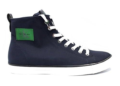 Calvin Klein Zapatillas de Nailon Para Hombre Azul Turquesa: Amazon.es: Zapatos y complementos