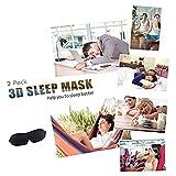 Sleep Mask Pack of 2 Eye Mask for Sleeping with