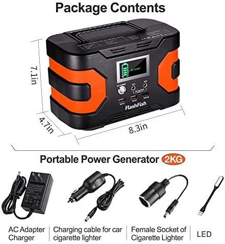 200W Peak Power Station, Flashfish CPAP Battery 166Wh 45000mAh Backup Power Pack 110V 150W Lithium Battery Pack Camping Solar Generator For CPAP Camping Home Emergency Power Supply 51BYdzDQs3L