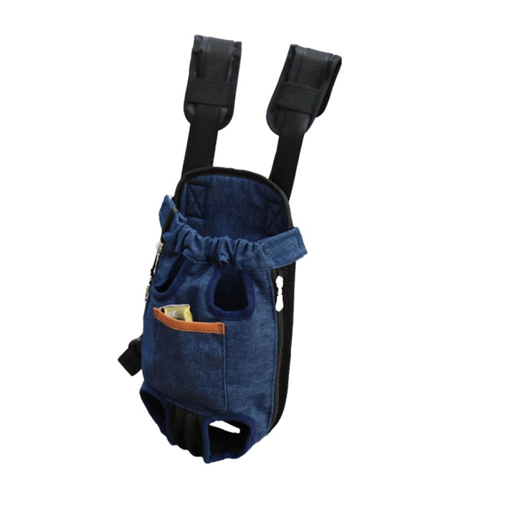 bluee M bluee M HUAyue Breathable Backpack, Pet Backpack Dog Cat Cat Out of The Chest Fashion Chest Bag (color   bluee, Size   M)