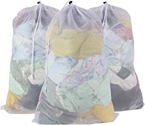 SLEPL Mesh Laundry Bags,Travel Storage Organize,Laundry Bra Lingerie Mesh Wash Bags for Blouse, Bra, Hosiery, Stocking, Underwear (Whtie)