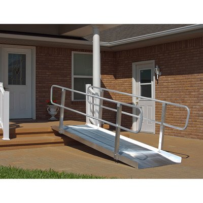 Solid With Handrails Wheelchair Ramp by Prairie View Industries