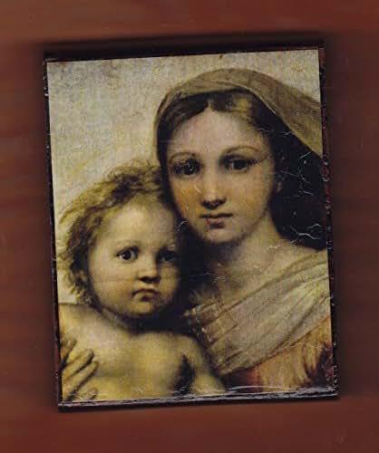 Amazon Com Virgin Mary Raffaelo La Madonna Sistina Handmade