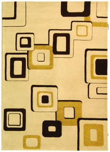(Safavieh Soho Collection SOH711A Handmade Abstract Beige and Brown Premium Wool Runner (2'6