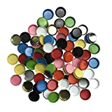 used beer caps - Decorative Beer Bottle Caps, 100 Counts Mixed Colors Crown Bottle Caps for DIY Crafts Pendants by ZXSWEET