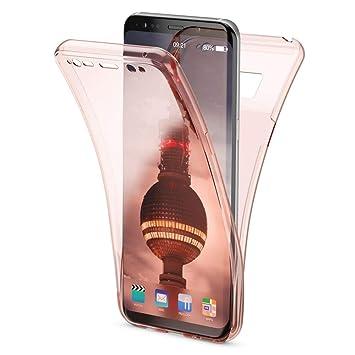 NALIA Funda 360 Grados Compatible con Samsung Galaxy S8, Delantera Trasera Protectora Movil Silicona Carcasa, Ultra-Fina Gel Transparente Doble ...