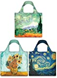 baby van gogh world of colors - LOQI Museum Vincent Van Gogh Collection Pouch Reusable Bags, Multicolored, Set of 3
