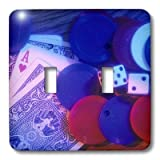 3dRose LLC lsp_91356_2 Minnesota, Saint Paul Poker Chips And Cards Us24 Bja0028 Jaynes Gallery Double Toggle Switch