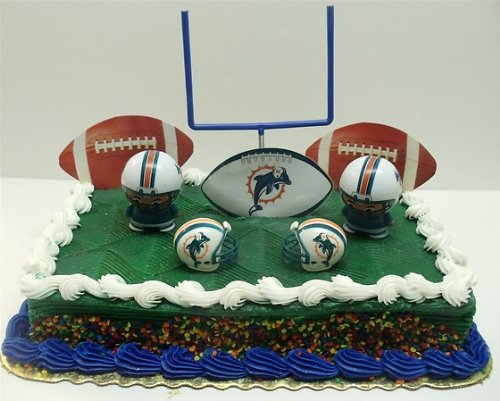 miami dolphin wedding cake toppers nfl football miami dolphins birthday cake topper set 17330