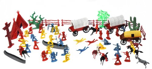 1-32 by Unknown Action Play Sets 639 Cowboys /& Indians Figure Playset 108pcs//Tub