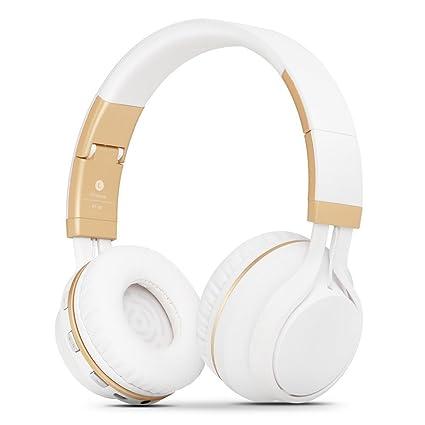 Kanen BT02 Plegable estéreo inalámbrico Bluetooth Auriculares Auriculares de Diadema con micrófono