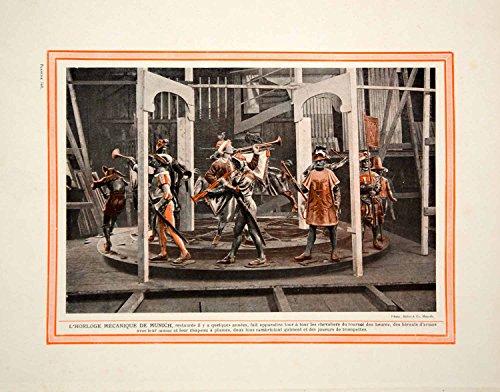 1914-color-print-rathaus-glockenspiel-mechanical-clock-carillon-munich-germany-original-color-print