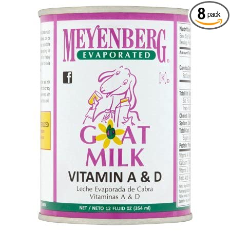 Amazon.com : Meyenberg Evaporated Goat Milk, Vitamin D, 12 Ounce (Pack of 8) : Grocery & Gourmet Food